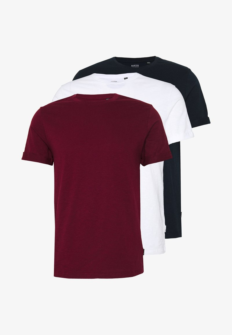 Burton Menswear London - 3 PACK - Jednoduché triko - white