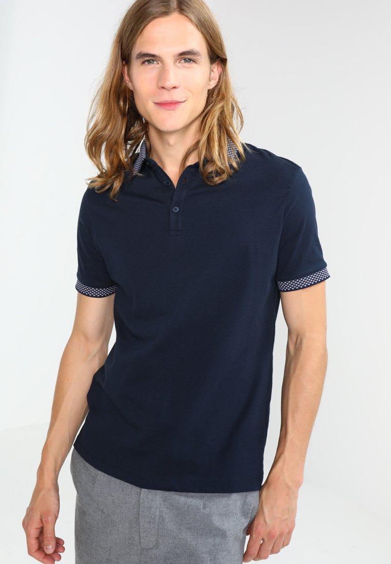 Burton Menswear London - JACQUARD POLO  - Polo shirt - nvy