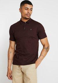 Burton Menswear London - BASIC 2 PACK - Polotričko - burgundy/khaki - 1