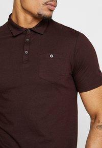 Burton Menswear London - BASIC 2 PACK - Polotričko - burgundy/khaki - 4