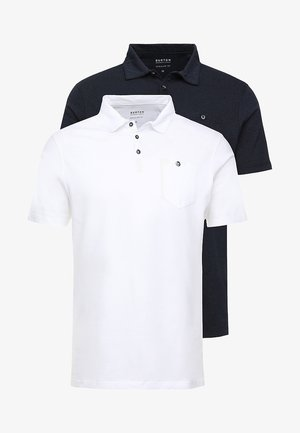 BASIC 2 PACK - Poloshirt - navy/white