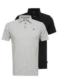 Burton Menswear London - BASIC 2 PACK - Koszulka polo - grey black - 0
