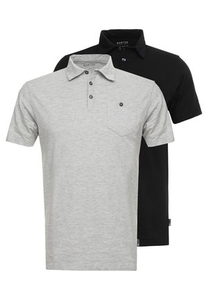 BASIC 2 PACK - Poloshirt - grey black