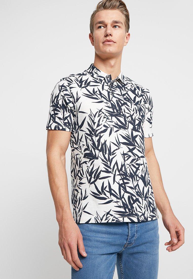 Burton Menswear London - PALM FLORAL SMART - Poloshirt - neutral