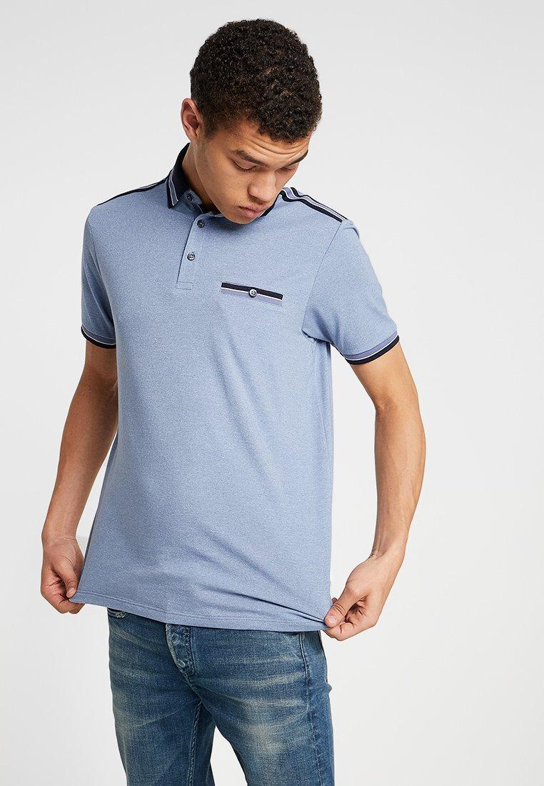 Burton Menswear London - OVERARM STRIPE - Polotričko - blue