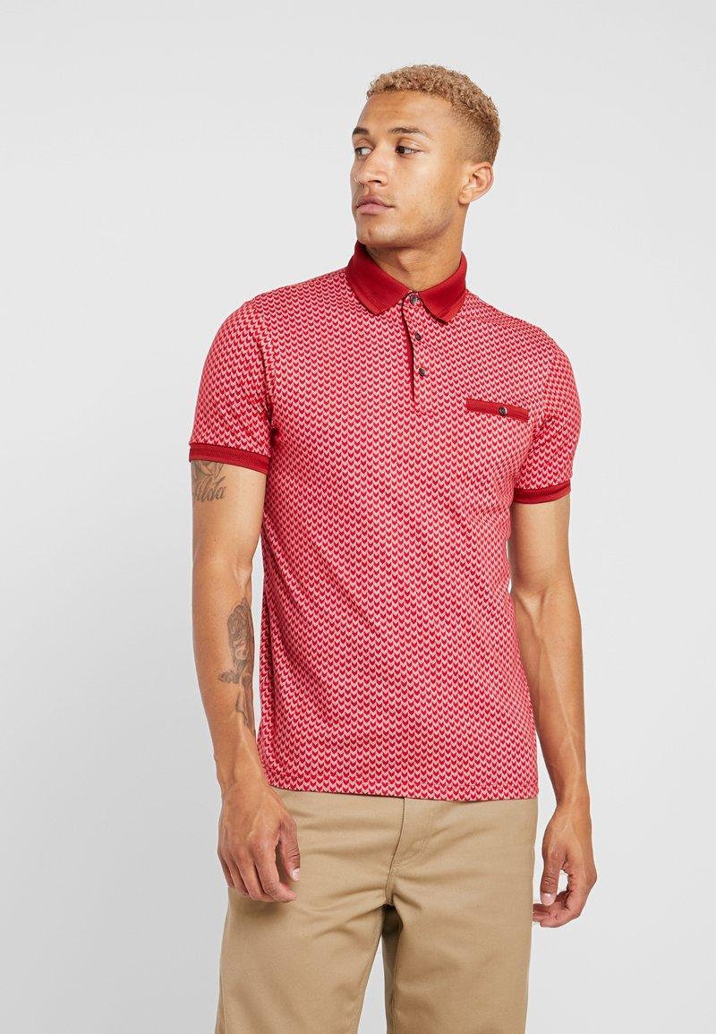Burton Menswear London - GEO - Poloshirt - red