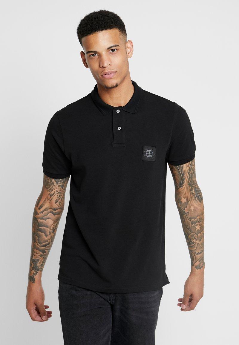 Burton Menswear London - STADIUM WAFFLE BADGE - Piké - black
