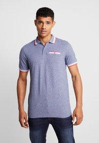 Burton Menswear London - BIRDSEYE HIGHLIGHT - Poloshirt - navy - 0