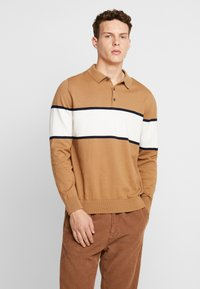 Burton Menswear London - BERNERS POLO - Jumper - natural - 0