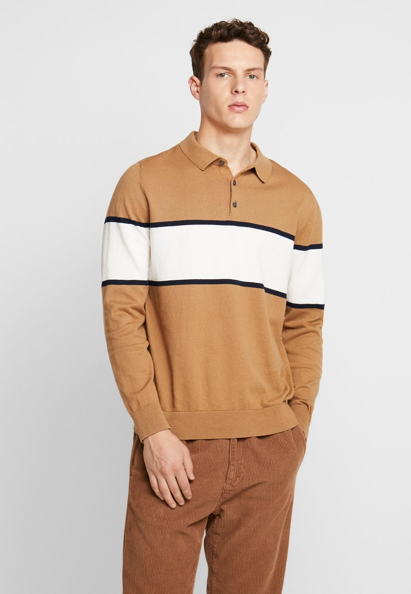 Burton Menswear London - BERNERS POLO - Svetr - natural