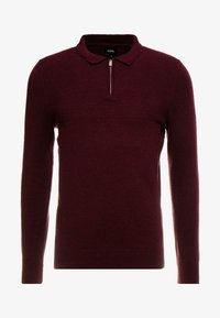 Burton Menswear London - CASTLE YOKE ZIP  - Maglione - burg - 4