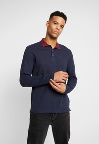 Burton Menswear London - POP COLLAR - Polo - navy - 0