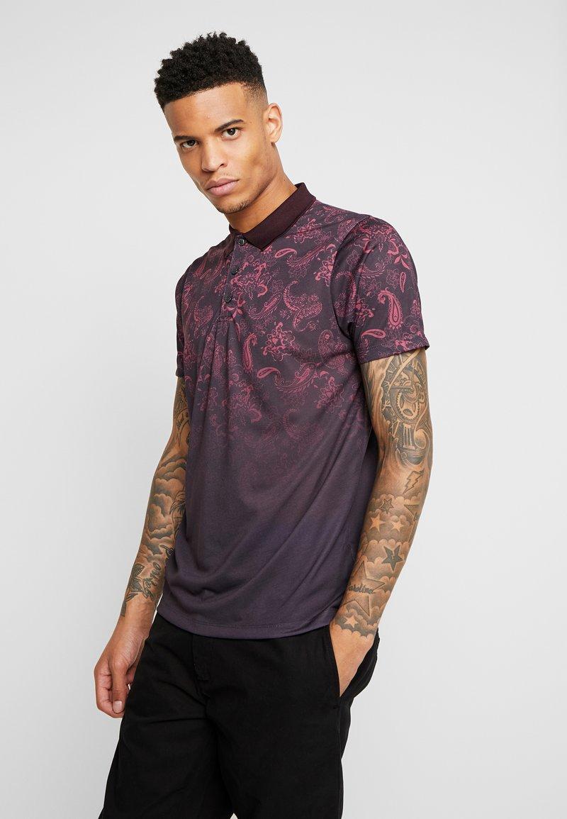 Burton Menswear London - PAISLEY YOKE FADE - Polo shirt - burgundy