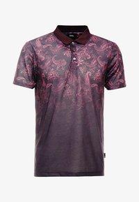 Burton Menswear London - PAISLEY YOKE FADE - Polo shirt - burgundy - 4