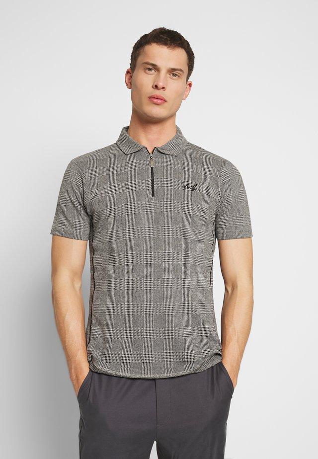 CHECK POLO - Poloshirt - grey
