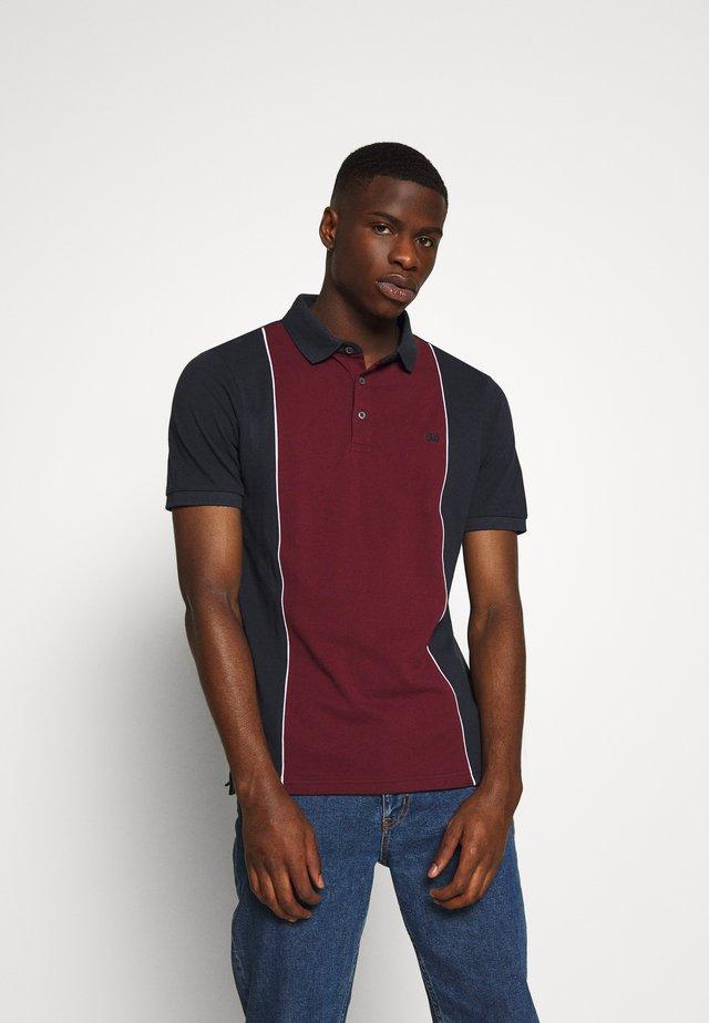 ORGANIC COLOUR BLOCK  - Poloshirt - burgundy