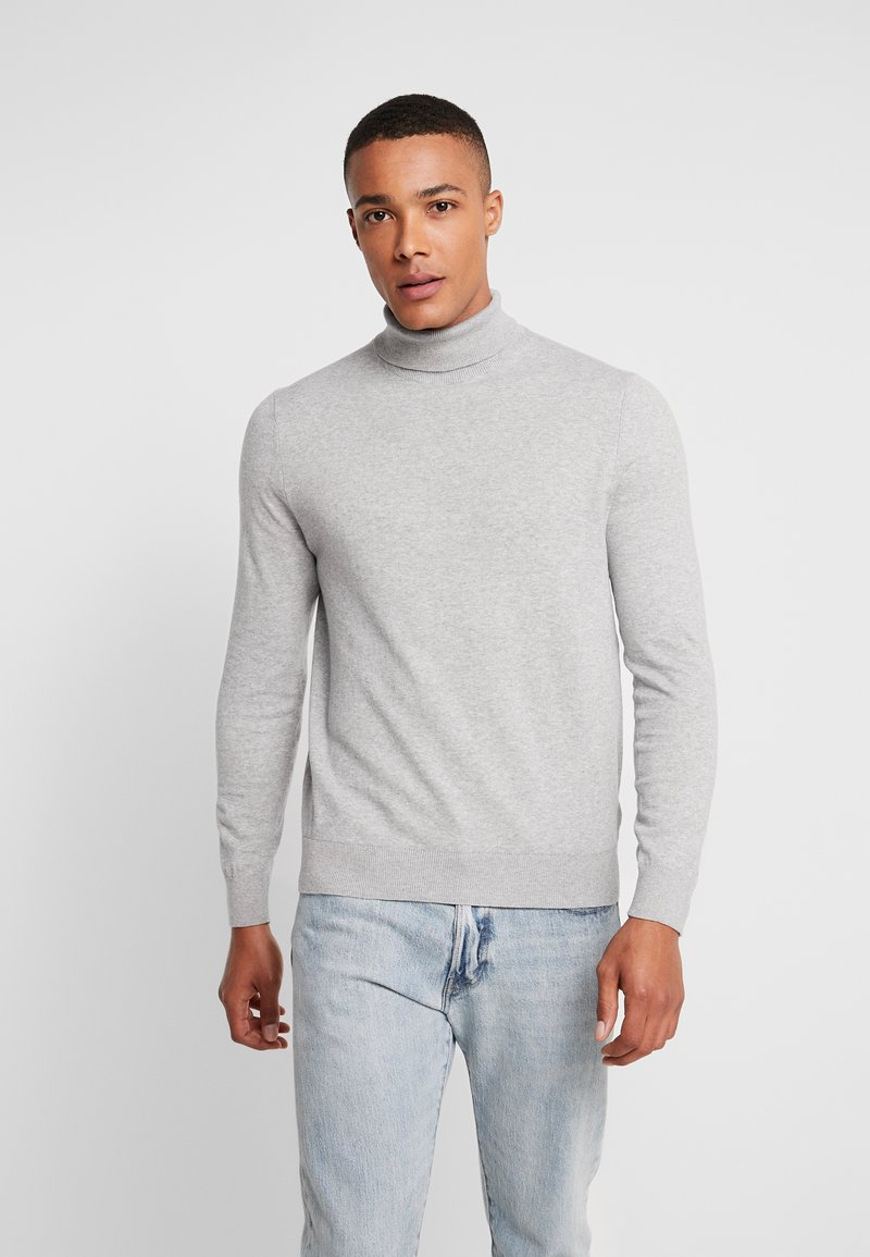 Burton Menswear London - CORE ROLL - Strickpullover - grey
