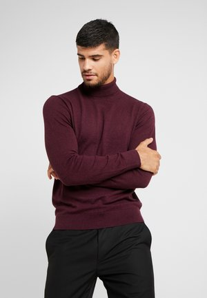 CORE ROLL - Strickpullover - burgundy