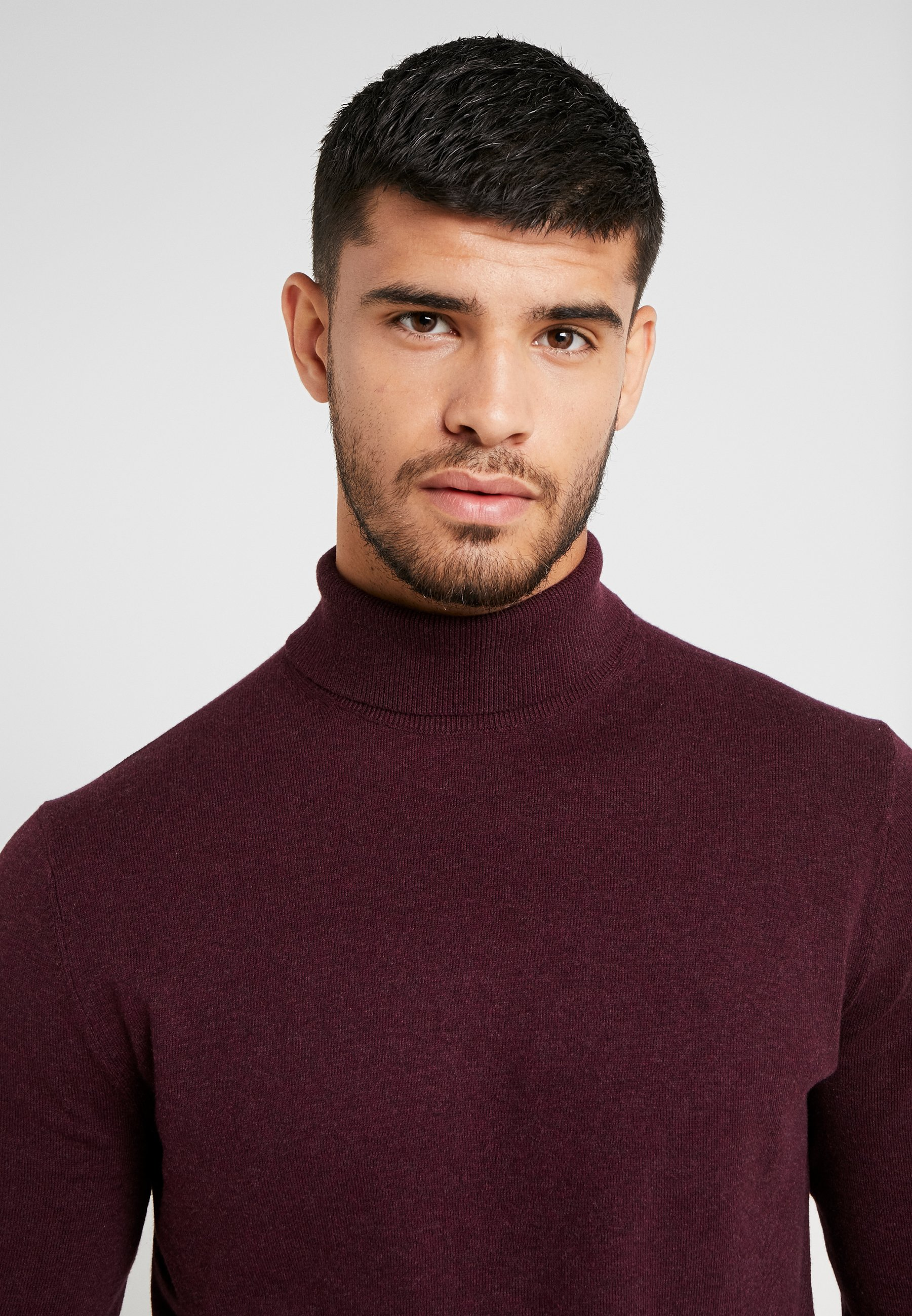 Burton Menswear London CORE ROLL - Strickpullover burgundy