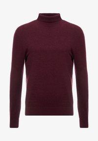 Burton Menswear London - CORE ROLL - Maglione - burgundy - 3