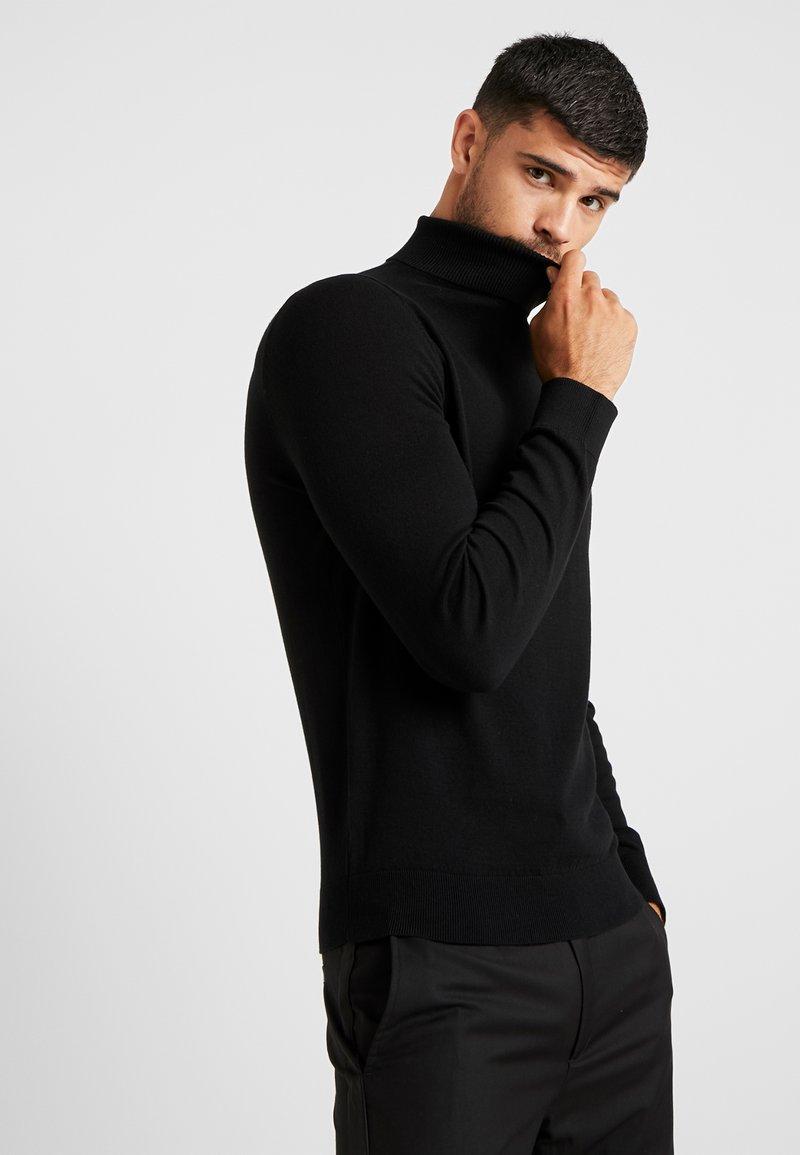 Burton Menswear London - CORE ROLL - Stickad tröja - black