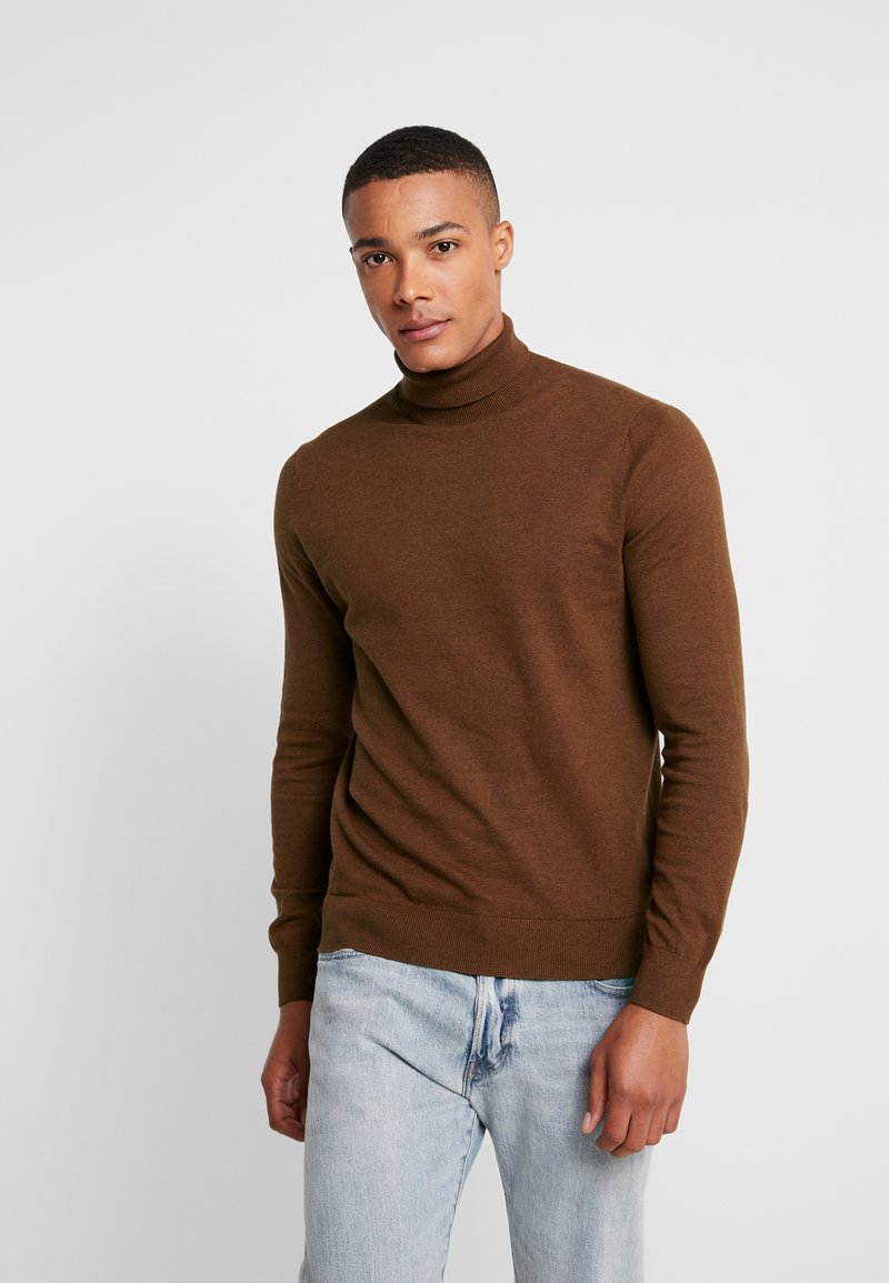 Burton Menswear London - CORE CREW - Strickpullover - ginger