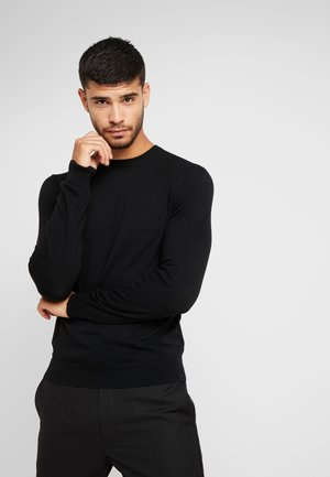 CORE CREW - Strickpullover - black