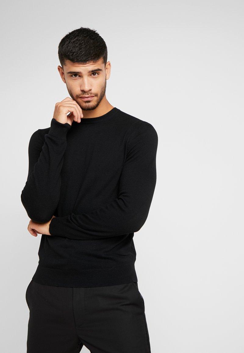 Burton Menswear London - CORE CREW - Strickpullover - black