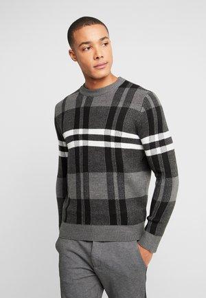 BENJAMIN CHECK CREW  - Sweter - grey