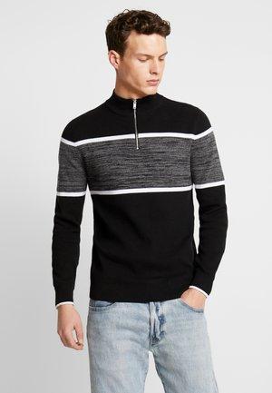 OAKLEY ZIP - Stickad tröja - black
