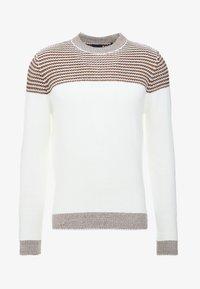 Burton Menswear London - DUKE CREW - Stickad tröja - white - 3