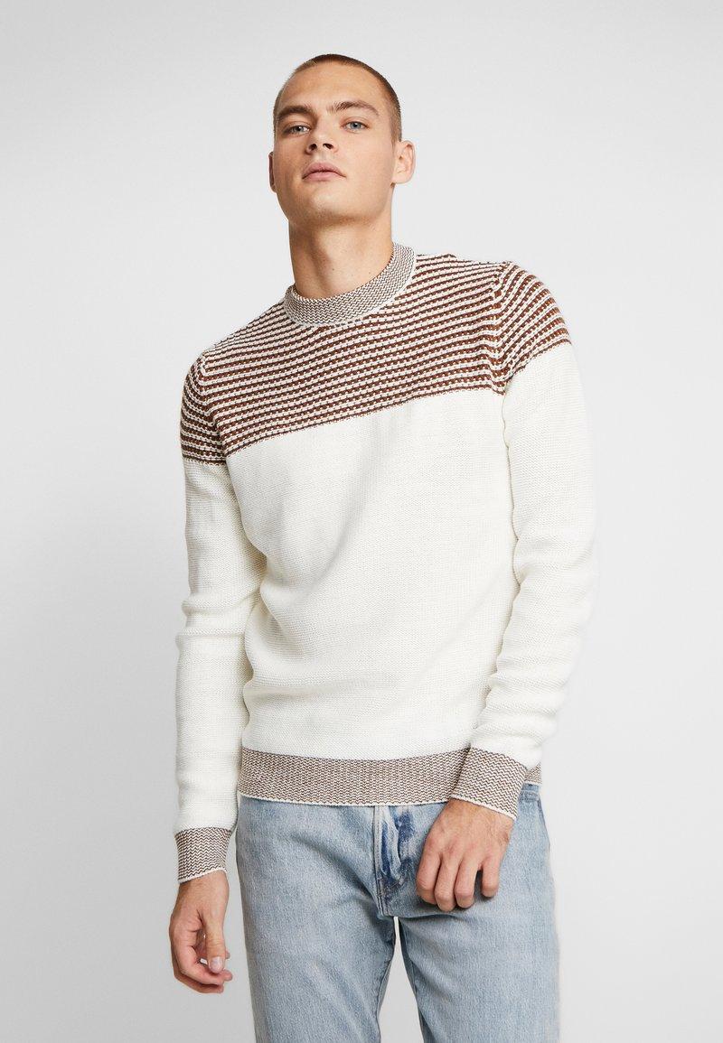 Burton Menswear London - DUKE CREW - Stickad tröja - white