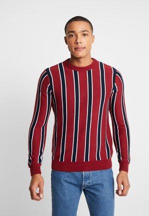 HOLLOWAY - Stickad tröja - burgundy