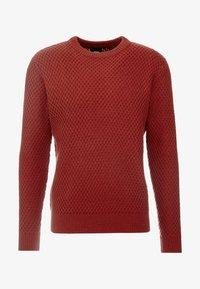 Burton Menswear London - HUBURT CREW - Strikkegenser - rust - 3