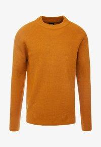 Burton Menswear London - FISHERMAN - Strikkegenser - mustard - 4