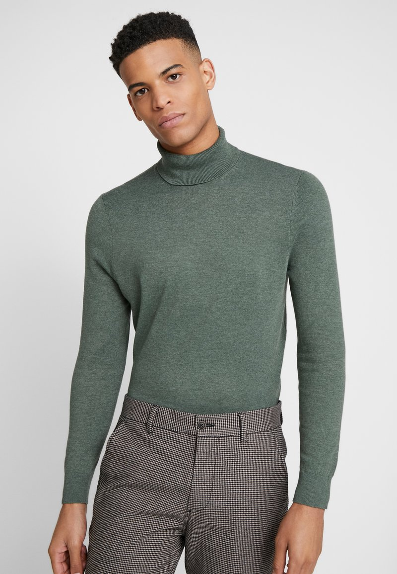 Burton Menswear London - CORE ROLL SEA - Svetr - green