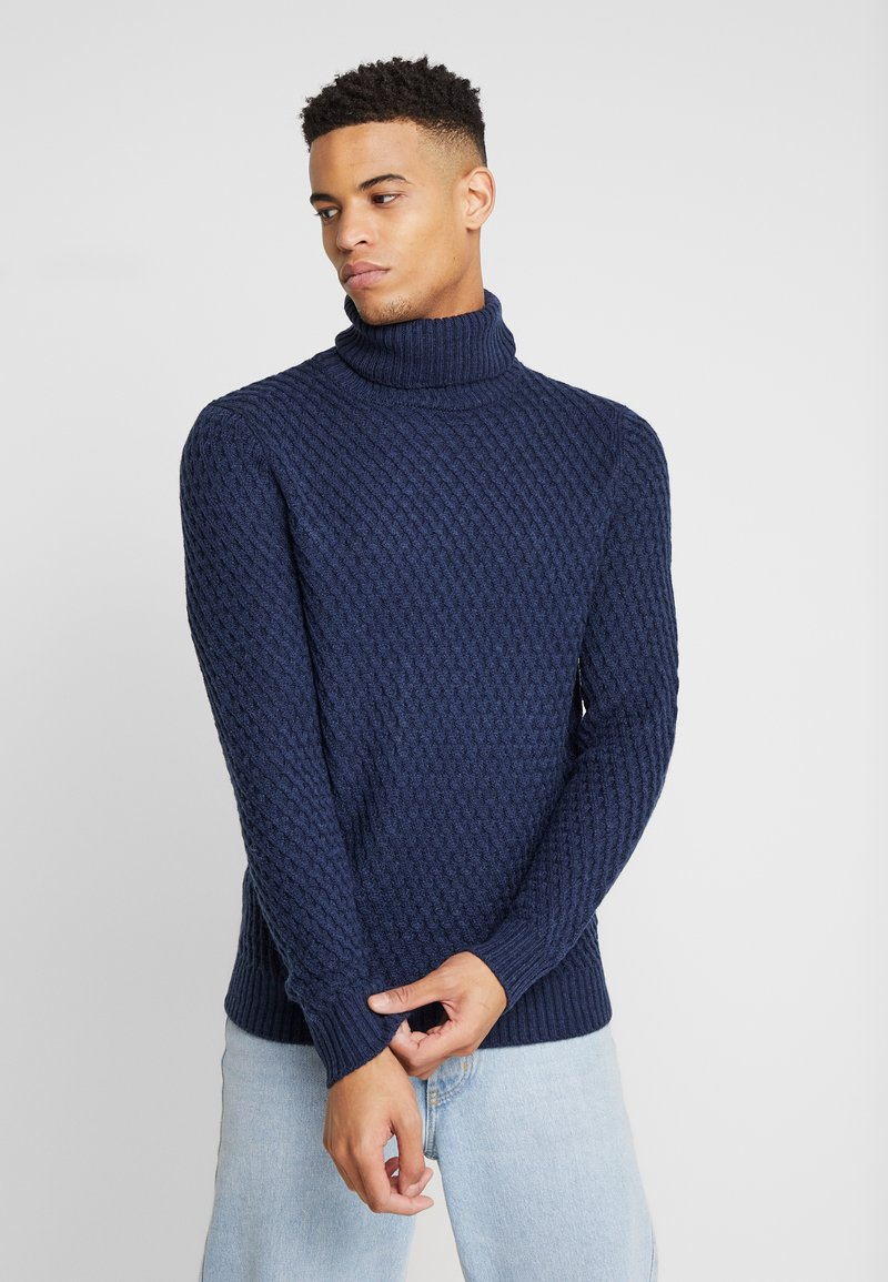 Burton Menswear London - KEGAN ROLL NAVY - Jumper - navy
