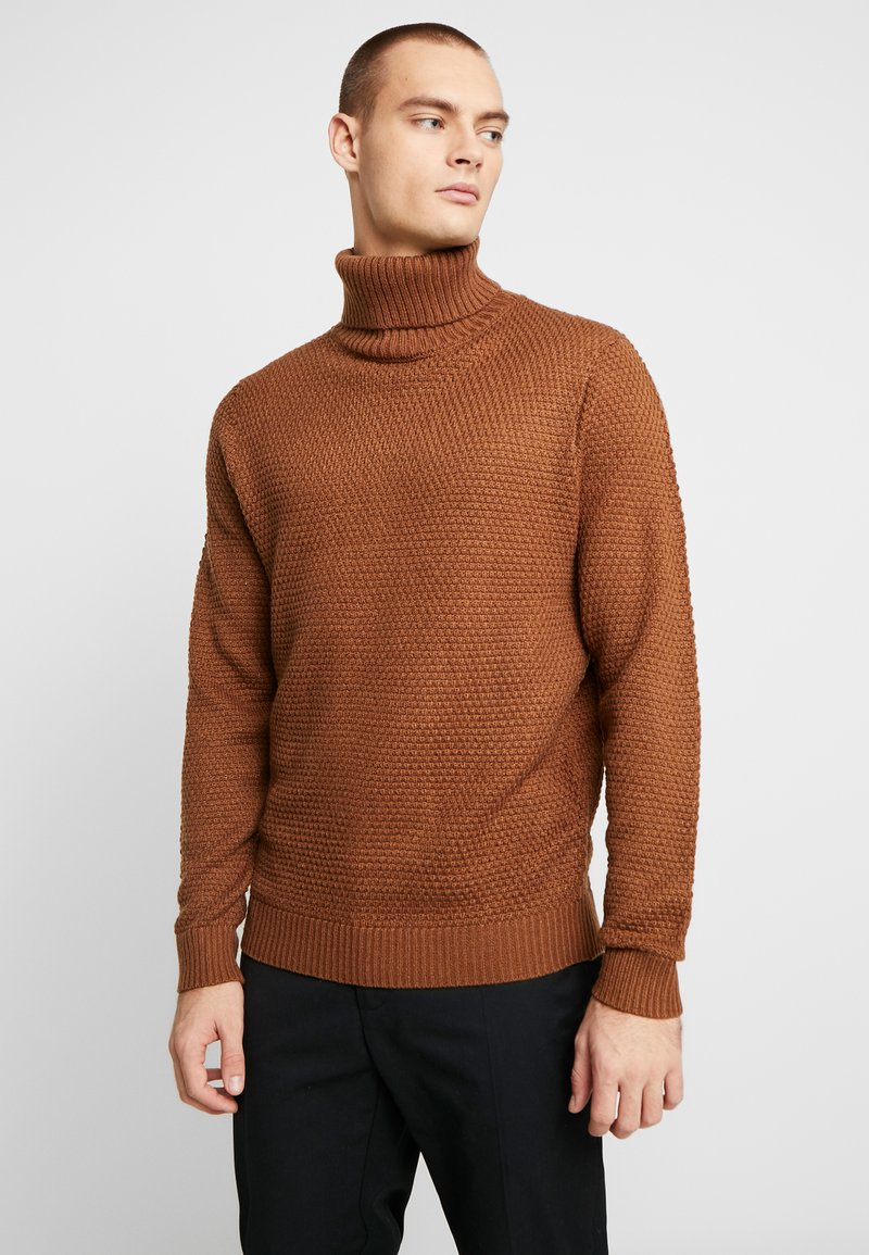 Burton Menswear London - KILLIAN ROLL NECK  - Trui - brown