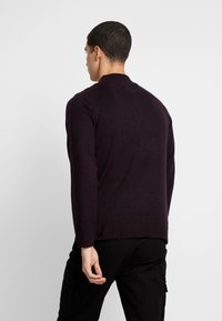 Burton Menswear London - HALF ZIP  - Trui - burgundy - 2