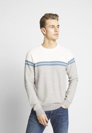 FINE STRIPE - Stickad tröja - grey