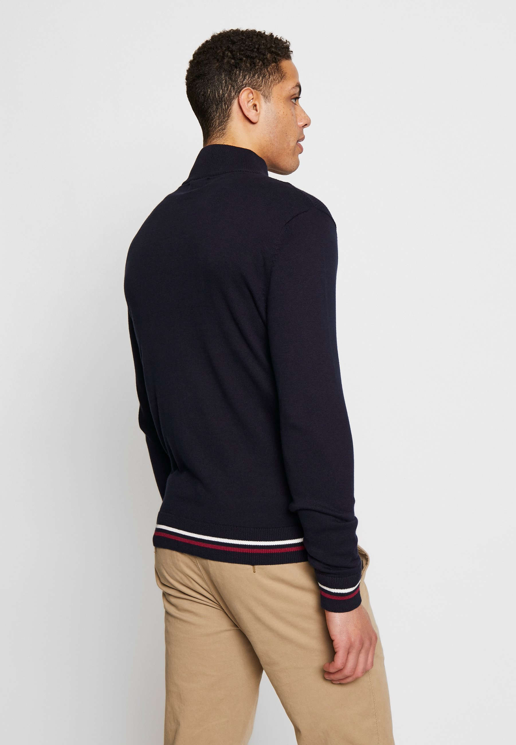 Burton Menswear London TIPPED ZIP THRU - Maglione - navy