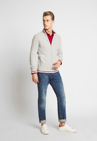 Burton Menswear London - TIPPED ZIP THRU - Neuletakki - grey - 1