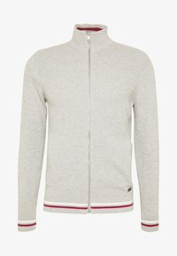 Burton Menswear London - TIPPED ZIP THRU - Neuletakki - grey - 4