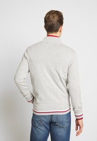 Burton Menswear London - TIPPED ZIP THRU - Neuletakki - grey - 2
