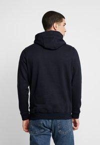Burton Menswear London - SOLID HOOD - Felpa con cappuccio - navy - 2