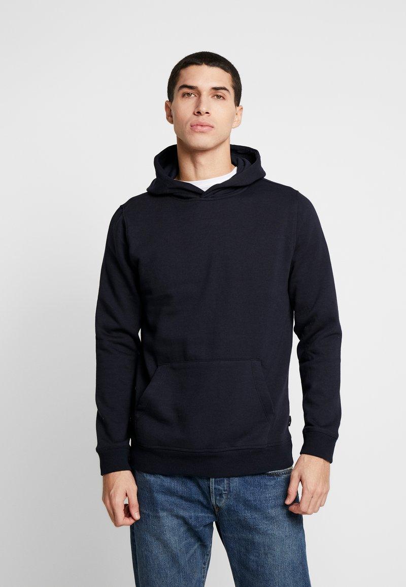 Burton Menswear London - SOLID HOOD - Felpa con cappuccio - navy