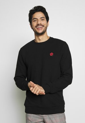 ROSE CHEST CREW - Felpa - black