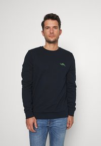 Burton Menswear London - DINOSAUR CREW - Mikina - navy - 0