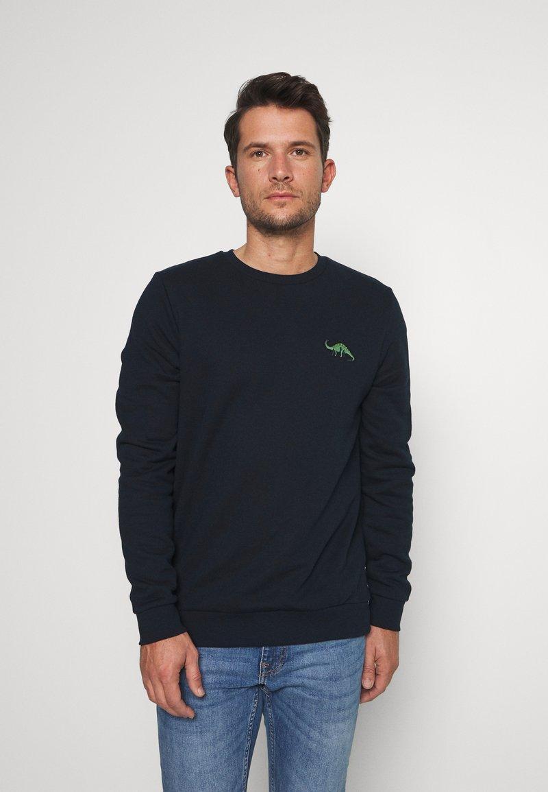 Burton Menswear London - DINOSAUR CREW - Mikina - navy