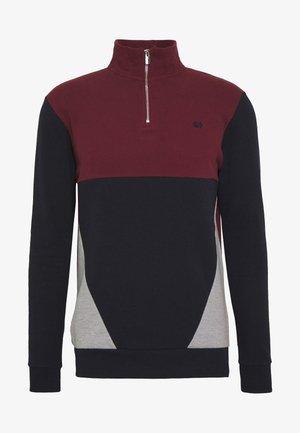BUR C'BLOCK HALF ZIP - Sweatshirt - burgundy